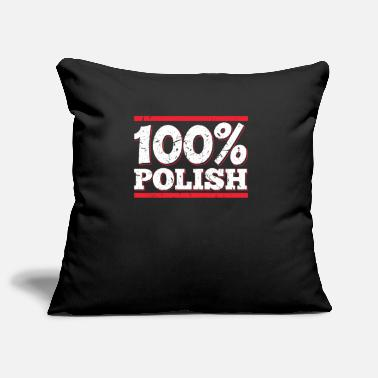 Polish 100% Polish Polish Poland Polska Polish - Pillowcase 17,3'' x 17,3'' (45 x 45 cm)