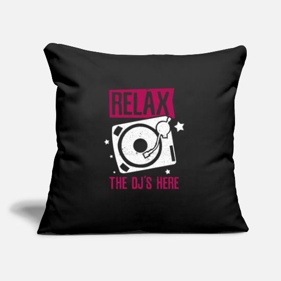 Hang Up Pillow Cases - disc jockey - Pillowcase 17,3'' x 17,3'' (45 x 45 cm) black