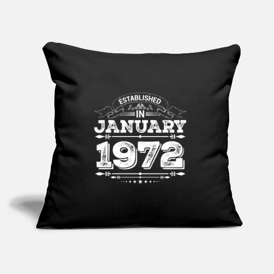 Established Pillow Cases - Established in January 1972 - Pillowcase 17,3'' x 17,3'' (45 x 45 cm) black