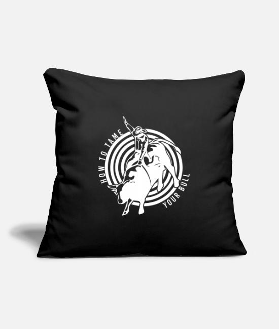Saddle Pillow Cases - Rodeo Cowboy Rancher Sheriff Bull Bull west - Pillowcase 17,3'' x 17,3'' (45 x 45 cm) black