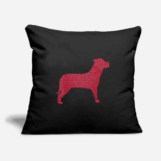 Pet Pillow Cases - Dog watchdog - Pillowcase 17,3'' x 17,3'' (45 x 45 cm) black