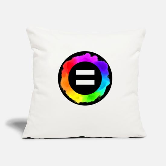 Marriage Equality Pillow Cases - Equal Rainbow Equal Colors icon LGBTQ LGBT - Pillowcase 17,3'' x 17,3'' (45 x 45 cm) natural white