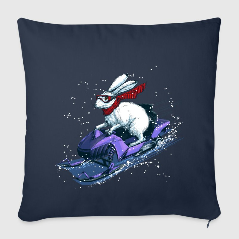Hare Snowmobile - Sofa pillow cover 44 x 44 cm