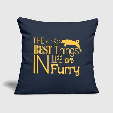 Furry dog - Sofa pillow cover 44 x 44 cm