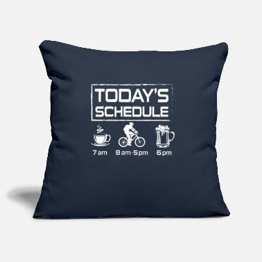 Bike Today's Schedule coffee bike beer - Copricuscino per divano, 44 x 44 cm
