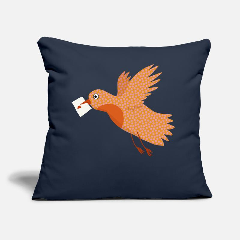 Love Collection V2 Pillow cases - Bird with letter - Pillowcase 17,3'' x 17,3'' (45 x 45 cm) navy