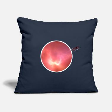 Nebula Space nebula with rocket - Pillowcase 17,3'' x 17,3'' (45 x 45 cm)