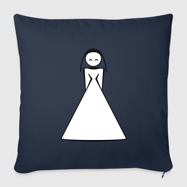 bride / bride to be / wife to be 2c clipart - Housse de coussin décorative 44 x 44 cm