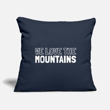 We love the mountains - Pillowcase 17,3'' x 17,3'' (45 x 45 cm)