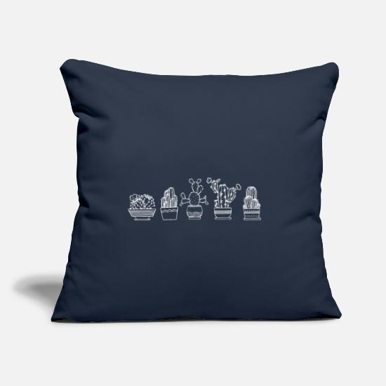 Gift Idea Pillow Cases - Cactus Shirt · Houseplants · Gift - Pillowcase 17,3'' x 17,3'' (45 x 45 cm) navy