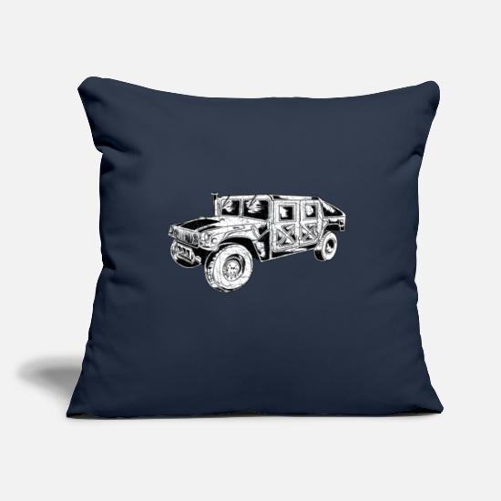 Gift Idea Pillow Cases - Military army soldier military vehicles - Pillowcase 17,3'' x 17,3'' (45 x 45 cm) navy