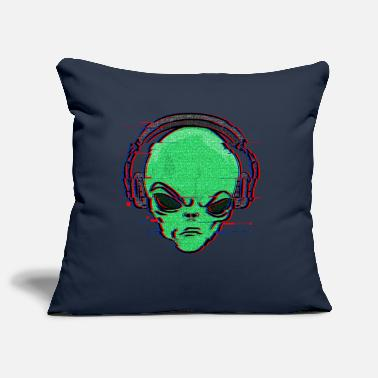 Glitch Effect alien DJ glitch effect - Pillowcase 17,3'' x 17,3'' (45 x 45 cm)