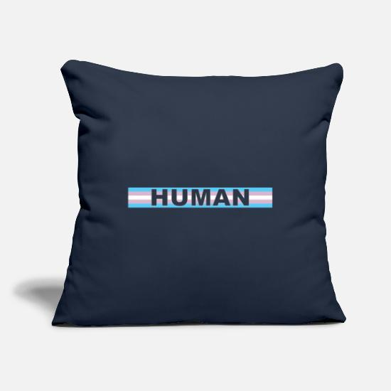 Transgender Pillow Cases - Transgender HUMAN - Pillowcase 17,3'' x 17,3'' (45 x 45 cm) navy