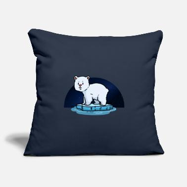 Polar Bear Little Polar Bear Starry Sky Ice Floe Arctic Co2 - Pillowcase 17,3'' x 17,3'' (45 x 45 cm)