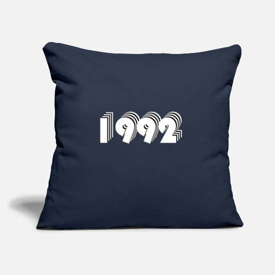 Birthday Pillow Cases - 1992 year of birth - Pillowcase 17,3'' x 17,3'' (45 x 45 cm) navy