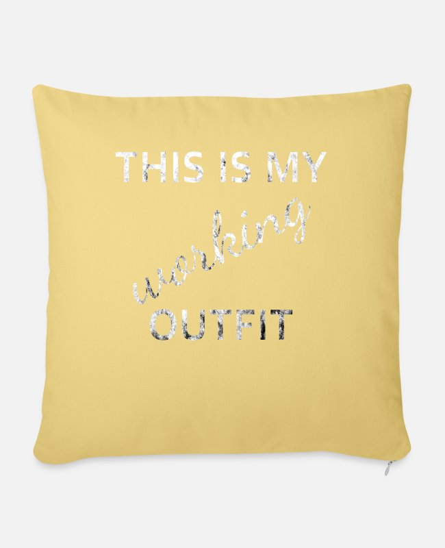 Grungy Pillow Cases - Outfit working - Pillowcase 17,3'' x 17,3'' (45 x 45 cm) washed yellow