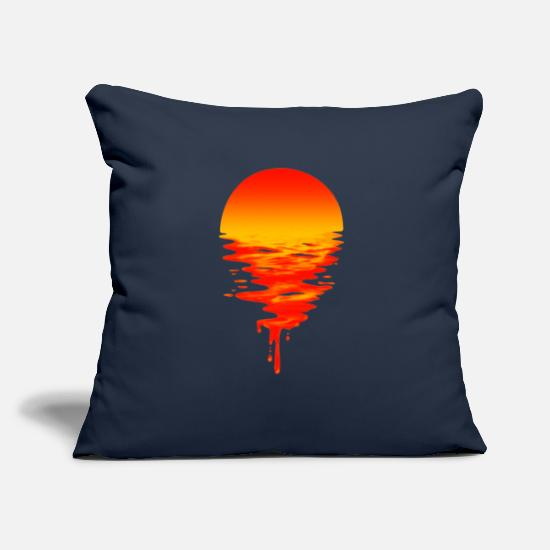 Melting Pillow Cases - Melting Sun - Melting Sun. - Pillowcase 17,3'' x 17,3'' (45 x 45 cm) navy
