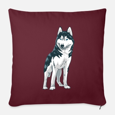 Sweet husky dog - Pillowcase 17,3'' x 17,3'' (45 x 45 cm)