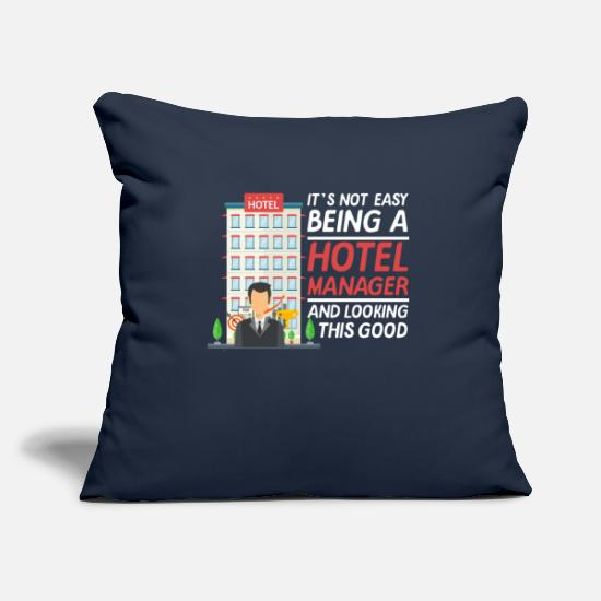 Birthday Pillow Cases - Hotel owner Managing Director Owner Hotel manager - Pillowcase 17,3'' x 17,3'' (45 x 45 cm) navy