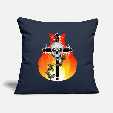 Purgatory Cross Satan Purgatory Demon Horror Halloween - Pillowcase 17,3'' x 17,3'' (45 x 45 cm)