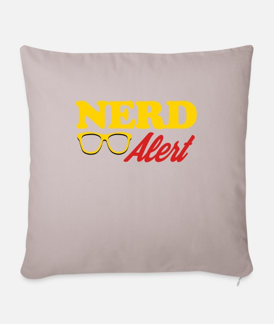 Nature Pillow Cases - Nerd Alert - Pillowcase 17,3'' x 17,3'' (45 x 45 cm) light taupe
