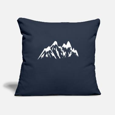 Mountains Mountain mountains mountains - Pillowcase 17,3'' x 17,3'' (45 x 45 cm)