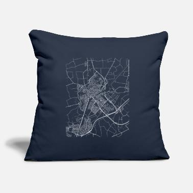 Netherlands Minimal Middelburg city map and streets - Pillowcase 17,3'' x 17,3'' (45 x 45 cm)