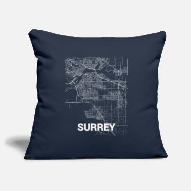 Surrey Surrey city map and streets - Pillowcase 17,3'' x 17,3'' (45 x 45 cm)