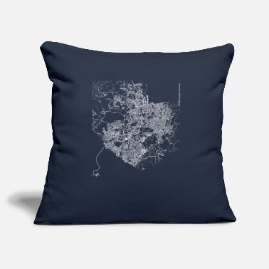 Manaus Minimal Manaus city map and streets - Pillowcase 17,3'' x 17,3'' (45 x 45 cm)