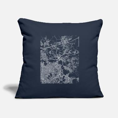 Map Minimal Itaquaquecetuba city map and streets - Pillowcase 17,3'' x 17,3'' (45 x 45 cm)