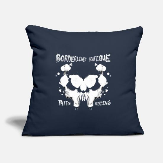 Smudge Pillow Cases - Borderlines Shop - Tattoo Piercing - Pillowcase 17,3'' x 17,3'' (45 x 45 cm) navy
