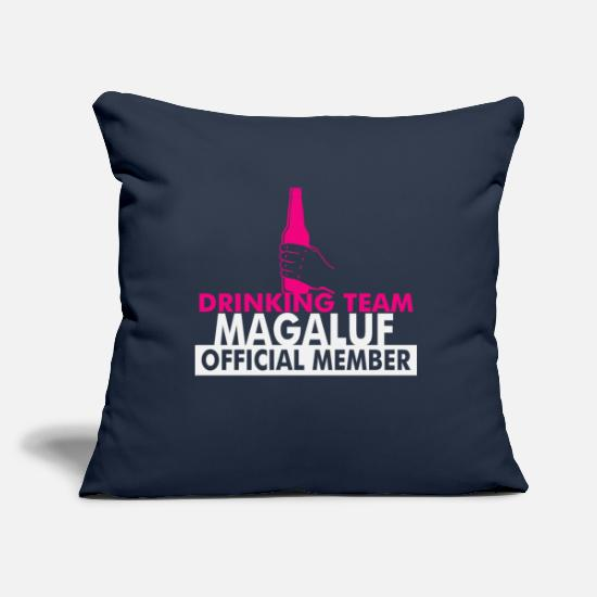 Alcohol Pillow Cases - Magaluf Drinking Team - Pillowcase 17,3'' x 17,3'' (45 x 45 cm) navy