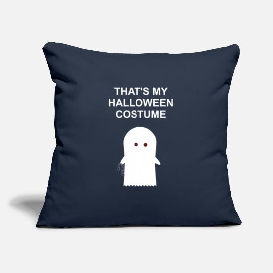 Gift Idea Pillow Cases - Ghost Halloween Costume - Pillowcase 17,3'' x 17,3'' (45 x 45 cm) navy