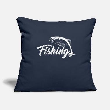 Fish Fishing fishing fish - Pillowcase 17,3'' x 17,3'' (45 x 45 cm)