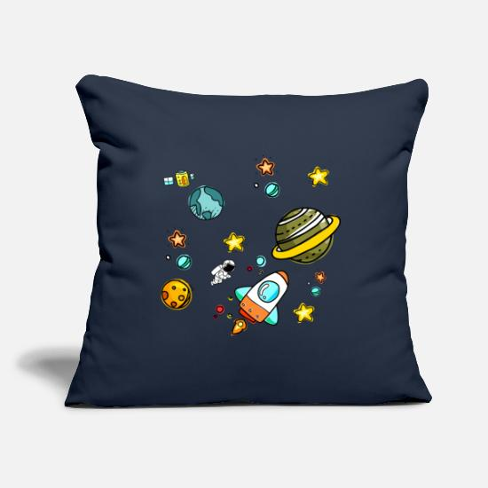 Saturn Pillow Cases - space - Pillowcase 17,3'' x 17,3'' (45 x 45 cm) navy