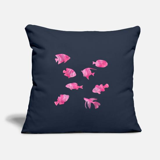Turtle Pillow Cases - Marine Biology Marine Biology Ocean Marine Biologist - Pillowcase 17,3'' x 17,3'' (45 x 45 cm) navy