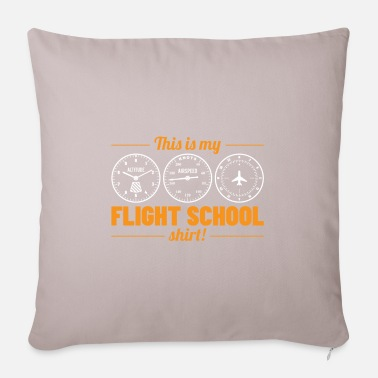 Flight School This Is My Flight School Shirt Gift - Pillowcase 17,3'' x 17,3'' (45 x 45 cm)
