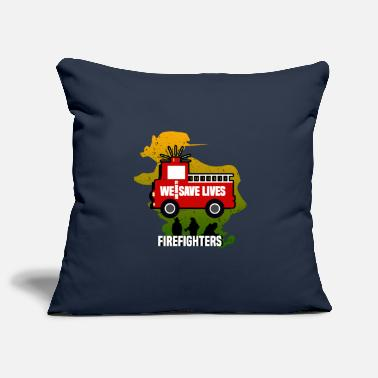 Where WE ARE GOING TO SAVE LIVES - FIREFIGHTERS - Pillowcase 17,3'' x 17,3'' (45 x 45 cm)