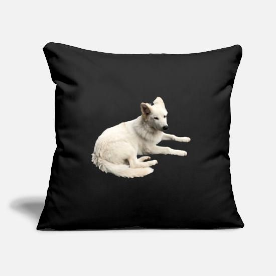 Dog Friend Pillow Cases - Swiss shepherd gift idea - Pillowcase 17,3'' x 17,3'' (45 x 45 cm) black