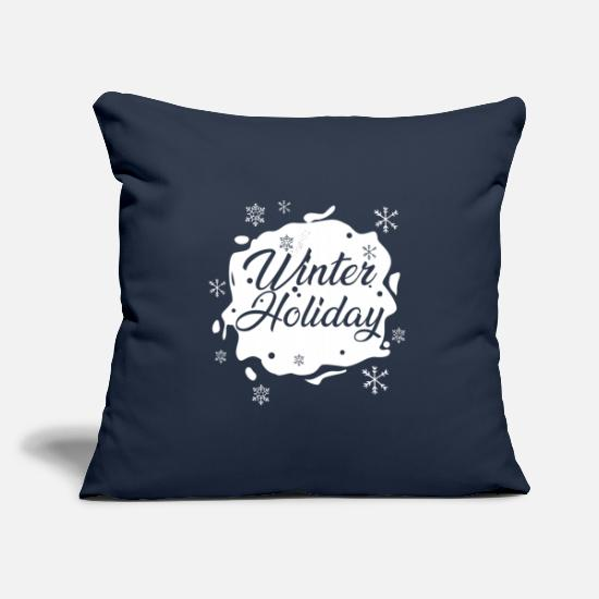 Ski Holidays Pillow Cases - Winter Holiday - Pillowcase 17,3'' x 17,3'' (45 x 45 cm) navy
