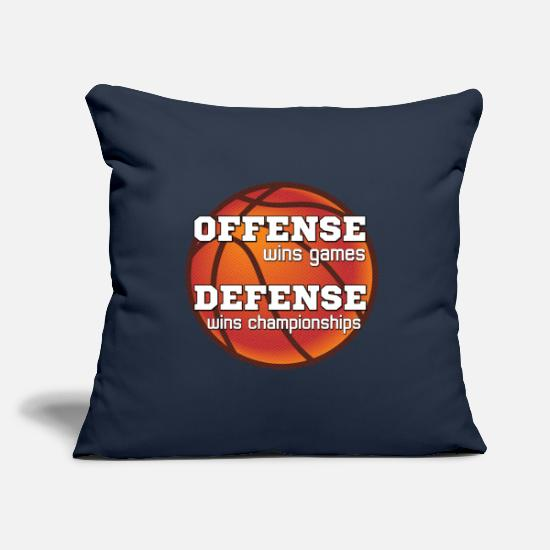 Game Ball Pillow Cases - Winning philosophy for team sports - Pillowcase 17,3'' x 17,3'' (45 x 45 cm) navy