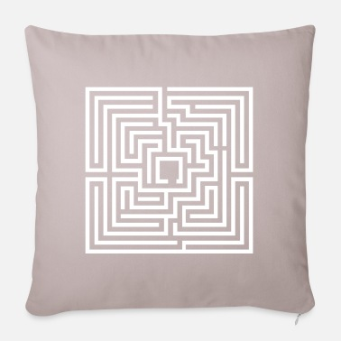 Decepticon Illusion No. 19 (labyrinth) - white / white - Pillowcase 17,3'' x 17,3'' (45 x 45 cm)