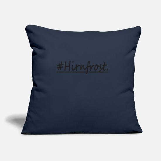 2018 Pillow Cases - Brain frost hashtag gift - Pillowcase 17,3'' x 17,3'' (45 x 45 cm) navy