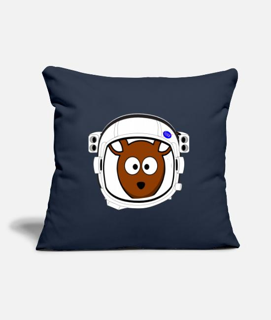 Saturn Pillow Cases - Squirrel in the helmet - Pillowcase 17,3'' x 17,3'' (45 x 45 cm) navy