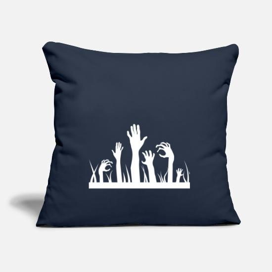 Birthday Pillow Cases - Zombie Halloween Tombstone Horror Spooky Gift - Pillowcase 17,3'' x 17,3'' (45 x 45 cm) navy