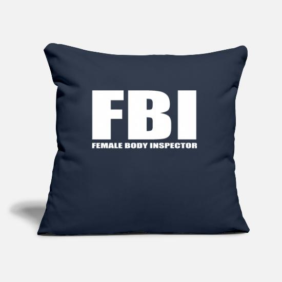 Body Builder Pillow Cases - female body inspector funny quote gift - Pillowcase 17,3'' x 17,3'' (45 x 45 cm) navy