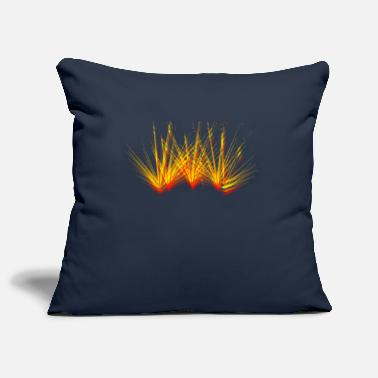 Fire beam laser colorful flame party - Pillowcase 17,3'' x 17,3'' (45 x 45 cm)