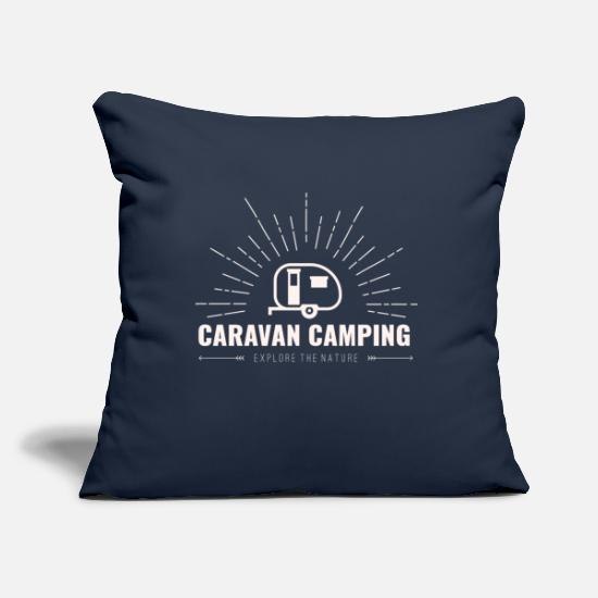 Camping Pillow Cases - Canottiera Caravan - Pillowcase 17,3'' x 17,3'' (45 x 45 cm) navy