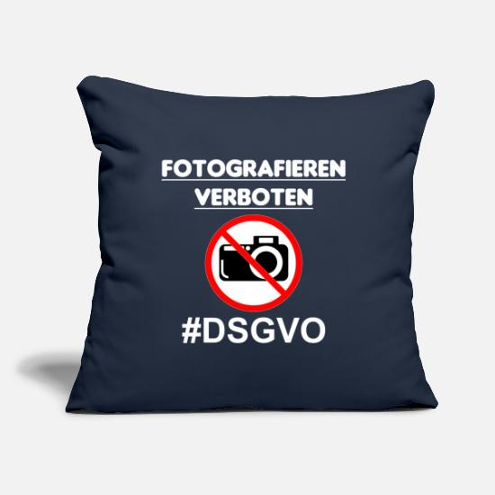 Birthday Pillow Cases - Photography prohibited. Privacy Policy white - Pillowcase 17,3'' x 17,3'' (45 x 45 cm) navy