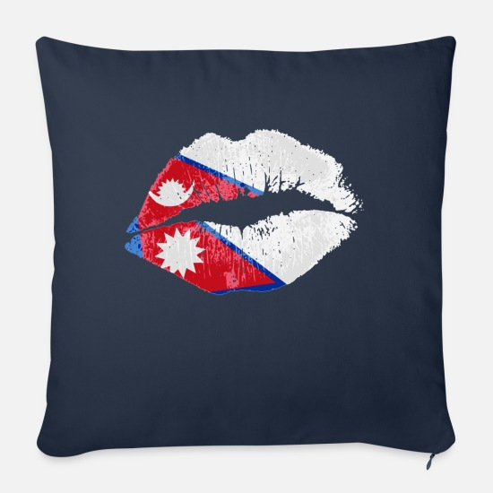 Love Pillow Cases - Kiss (Nepal) - Pillowcase 17,3'' x 17,3'' (45 x 45 cm) navy